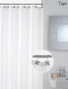 'Taps' with Decorative Hooks Hook Shower Curtain