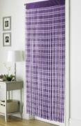 Jacquard Plum 'String' Door Curtain