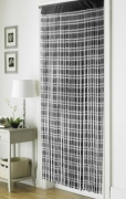 Jacquard Black 'String' Door Curtain