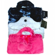 Country Club Faux Fur Handbag 'Pink,black,white' Assorted Hot Water Bottle