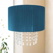 Easy Fit Chandelier 'Teal' Hanging Crystals 30cm Pendant Shade Lighting