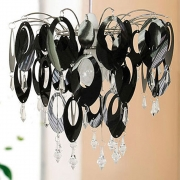 Urban Life Oval Black Light Fitting Chandelier
