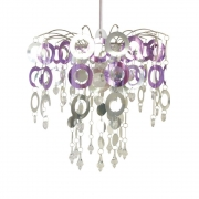 Urban Life Disk Lilac & Silver Light Fitting Chandelier