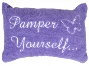 Purple 'Pamper Yourself' Embellished Pillow Bath
