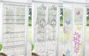 White Printed Design Curtain Assorted Magnetic Insect Door Screen