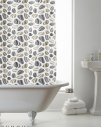 Pebbles with Hook Shower Curtain