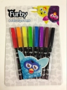 Furby 8pk Felt Tips Pen Stationery