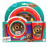 Little Charley Bear 3 Piece Dinner Set