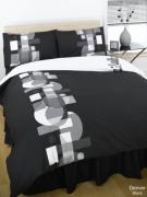 Denver Black Complete Set Bedding King Duvet Cover