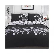 Kensington Black Half Set Bedding Single Duvet Cover