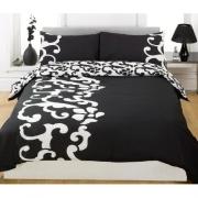 Chelsea Black/white Half Set Bedding King Duvet Cover