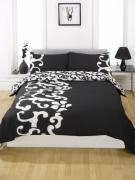 Chelsea Black Half Set Bedding King Duvet Cover