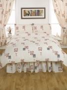 Canton Cream Bumper Set Bedding King Duvet Cover