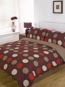 Lincoln Spot Chocolate Half Set Bedding King Duvet Cover