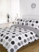 Lincoln Spot Black Half Set Bedding King Duvet Cover