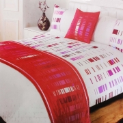 Staten Pink Bed In Bag Bedding King Duvet Cover Set