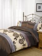 Glamour Chocolate Half Set Bedding King Duvet Cover