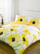 Amapola Yellow Half Set Bedding Super King Duvet Cover