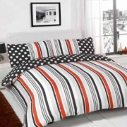 Suger Stripe Black Half Set Bedding Super King Duvet Cover