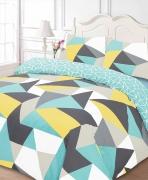 Shapes 'Multi' Reversible double king duvet quilt cover set