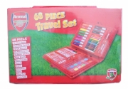Arsenal Fc 68 Piece Football Travel Stationery Bag Official