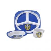 Leeds United 3pc Melamine Fc Football Official Dinner Set