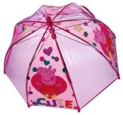 Peppa Pig 'Cute Heart' Dome School Rain Brolly Umbrella