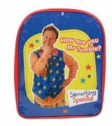 Something Special 'Mr Tumble' Pvc Front School Bag Rucksack Backpack