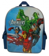 Avengers Assemble 'Iron Man, Captain America, Hulk,thor' Pvc Front School Bag Rucksack Backpack