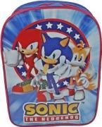 Sonic The Hedgehog Pvc Front School Bag Rucksack Backpack