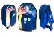 Doctor Who 'Tardis' Pvc Front School Bag Rucksack Backpack