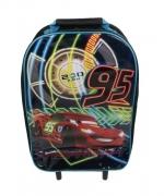 Disney Cars 95 Neon School Travel Trolley Roller Wheeled Bag