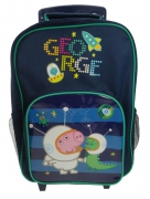Peppa Pig George 'Astronaut' School Travel Trolley Roller Wheeled Bag