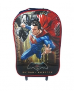 Batman vs Superman Junior Justice School Travel Trolley Roller Wheeled Bag