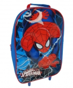 Spiderman 'Spiderweb' Pvc Front School Travel Trolley Roller Wheeled Bag