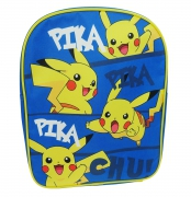 Pokemon 'Pikachu' Plain Front School Bag Rucksack Backpack