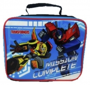 Transformers Mission Complete School Lunch Bag