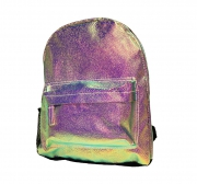 Girls Iridescent Reflective School Bag Rucksack Backpack