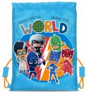 Pj Masks Cool Light Blue Drawstring School Pe Gym Trainer Bag