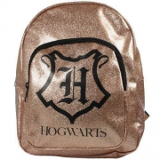 Harry Potter Children' S Novelty Gold Glitter School Bag Rucksack Backpack
