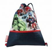 Marvel Avengers Zipped Pocket Drawstring School Pe Gym Trainer Bag