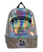 Harry Potter Children' S Novelty Silver Glitter School Bag Rucksack Backpack