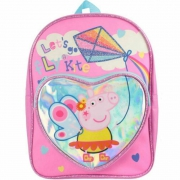 Peppa Pig Let'S Go Fly Kites' Fun Heart Arch School Bag Rucksack Backpack