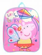 Peppa Pig Let'S Go Fly Kites' Plain School Bag Rucksack Backpack