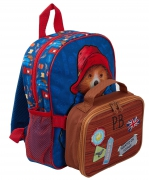 Paddington Bear Kids Bag with Detachable Lunch Bag/pencil Case School Rucksack Backpack