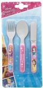 Disney Princess Forever 3 Piece Metal Stainless Steel Cutlery