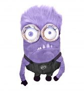 Despicable Me Minion 'Purple' Shaped Plush School Bag Rucksack Backpack