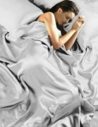 Satin Silver Plain 6 Pcs Complete Set Bedding King Duvet Cover