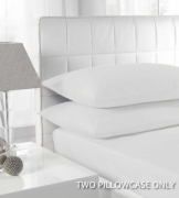 Percale White 2 Pk Bedding Pillow Case Set