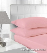 Percale Pink 2 Pk Bedding Pillow Case Set